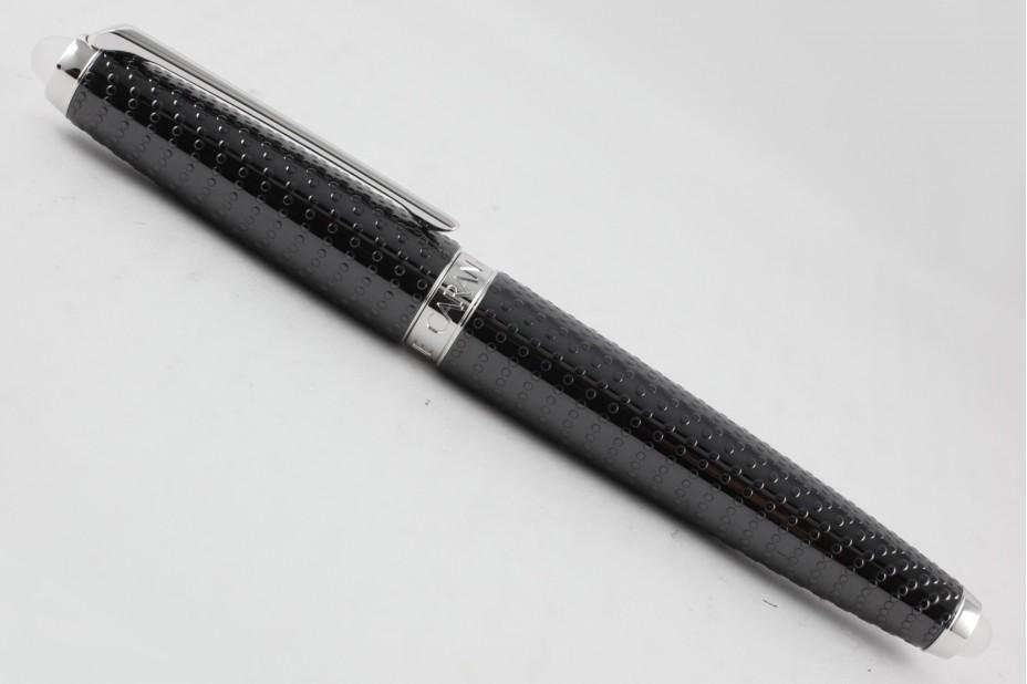 Caran D`Ache Limited Edition Lalique Crystal Black Rhodium Trim Fountain Pen