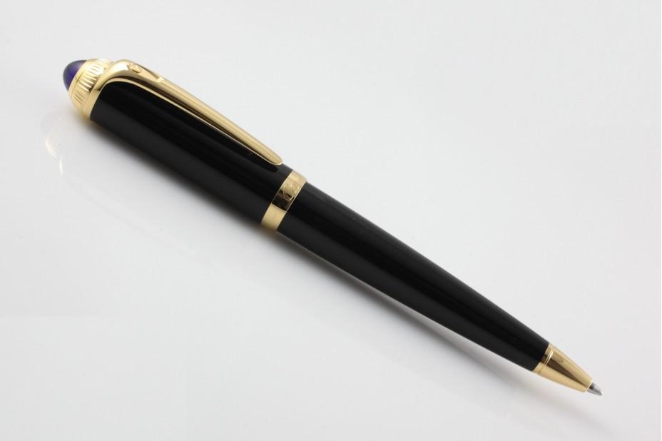 Cartier Roadster ST240005 Black Gold Trim Ball Pen