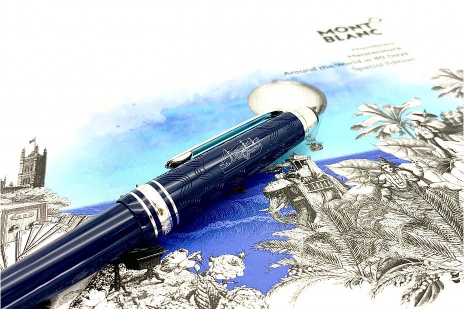Montblanc MB.126342 Meisterstuck Around the World in 80 days Midsize Ball Pen