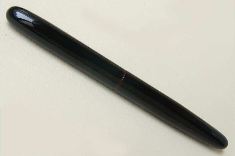 Nakaya Long Cigar Kuro Tamenuri Fountain Pen