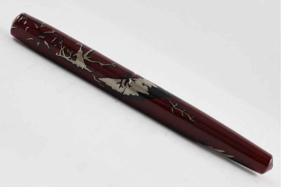 Nakaya Piccolo Long Cigar Yako maki-e Karasu Kite and Crow from Yosa Buson Fountain Pen