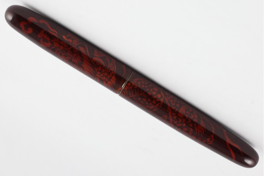 Nakaya Portable Cigar Tame Sukashi Shishin(four Gods) Seiryu (Blue Dragon) Fountain Pen