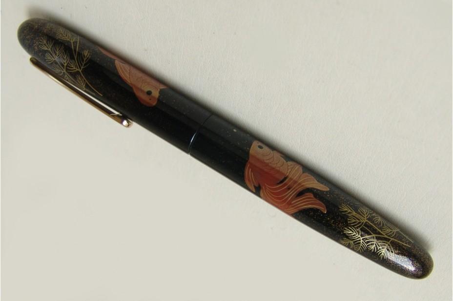 Nakaya Portable Writer Maki e Gold Fish Fountain Pen
