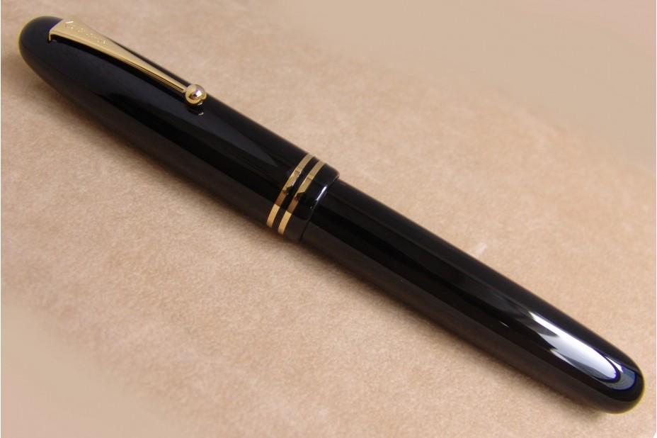 Namiki Emperor Size Black Urushi Lacquer with Ring Fountain Pen