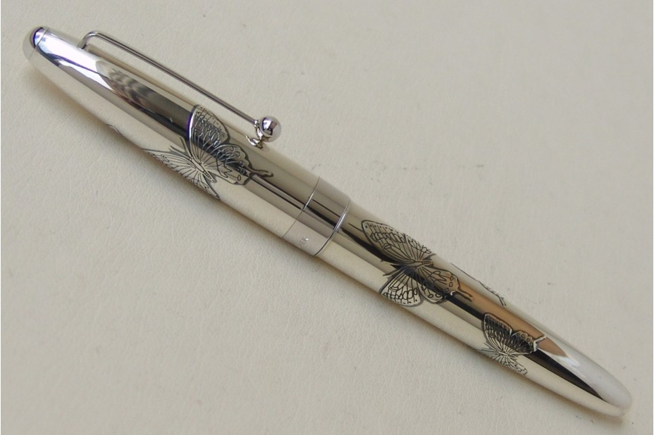 Namiki Sterling Silver Butterfly Fountain Pen
