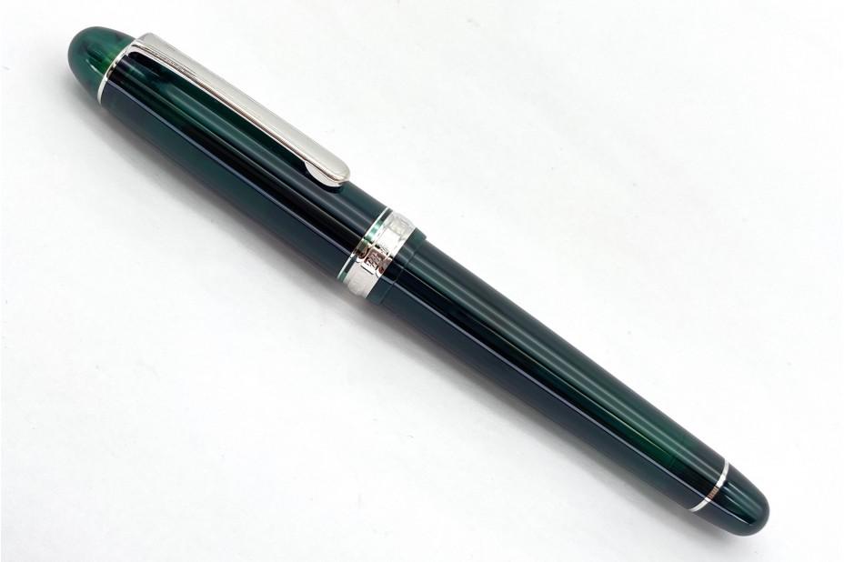Platinum 3776 Century Laurel Green Rhodium Trim Fountain Pen