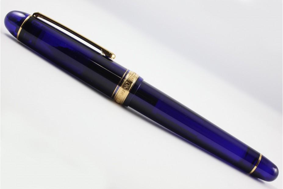 Platinum 3776 Century Chartres Blue Gold Trim Fountain Pen