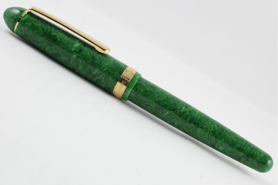Platinum 3776 Century Celluloid Jade with Gold Trim Fountain Pen