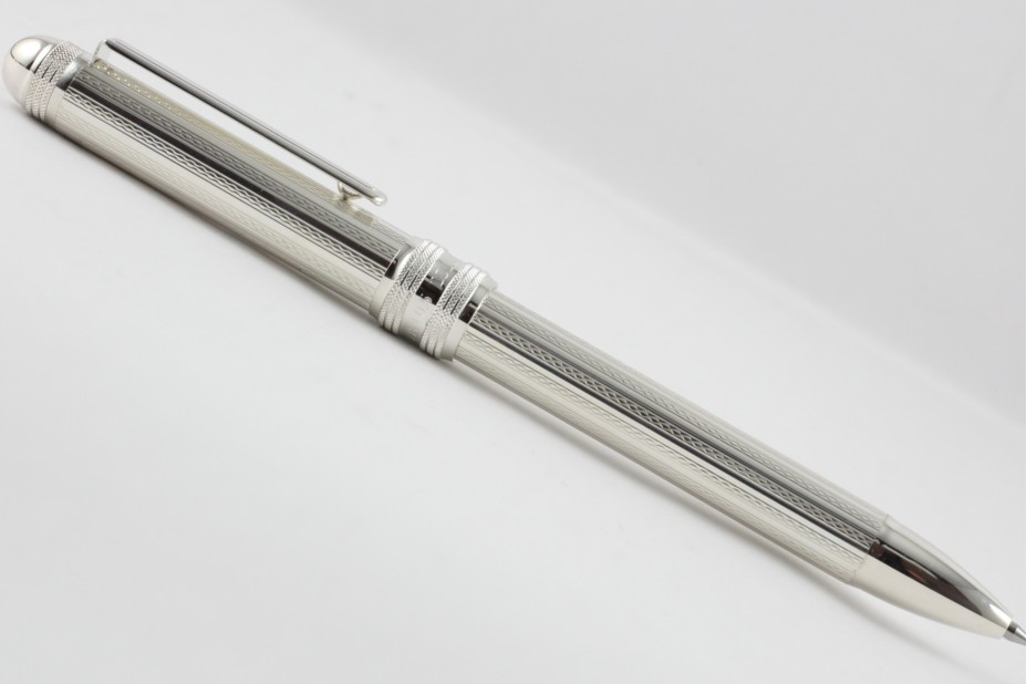 Platinum 3 in 1 Sterling Silver Net Multi Function Pen