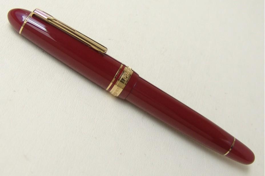 Platinum President Wine Red Gold Trim Fountain Pen