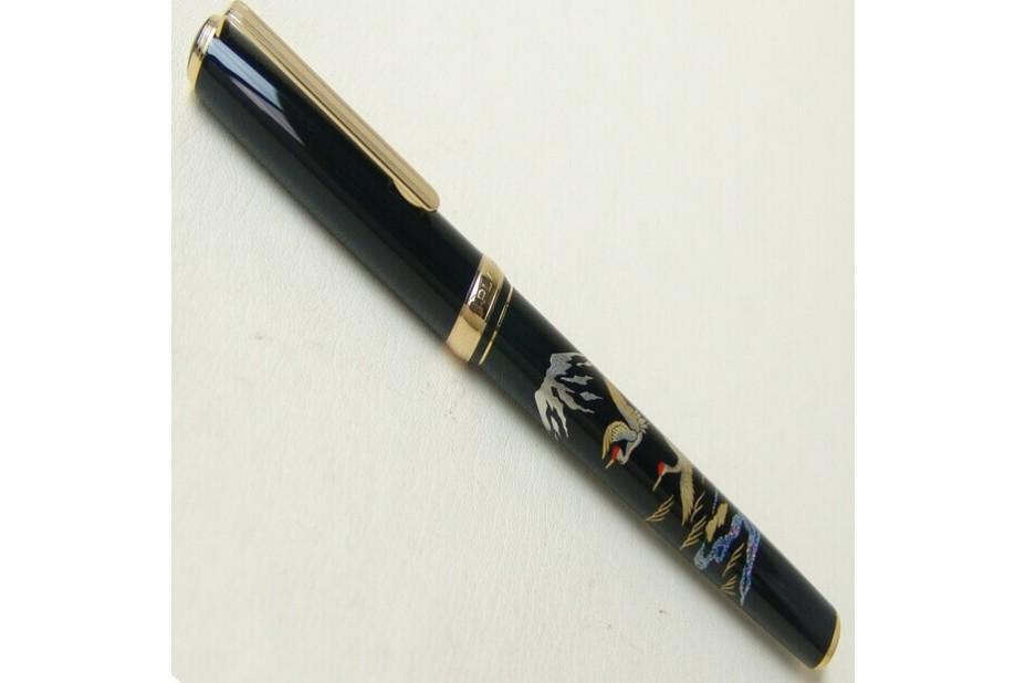 Platinum Slim Maki-e Crane Mt Fuji Fountain Pen