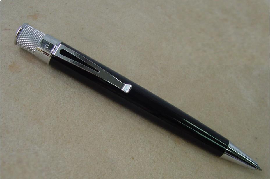 Retro 1951 Tornado Black Roller Ball Pen