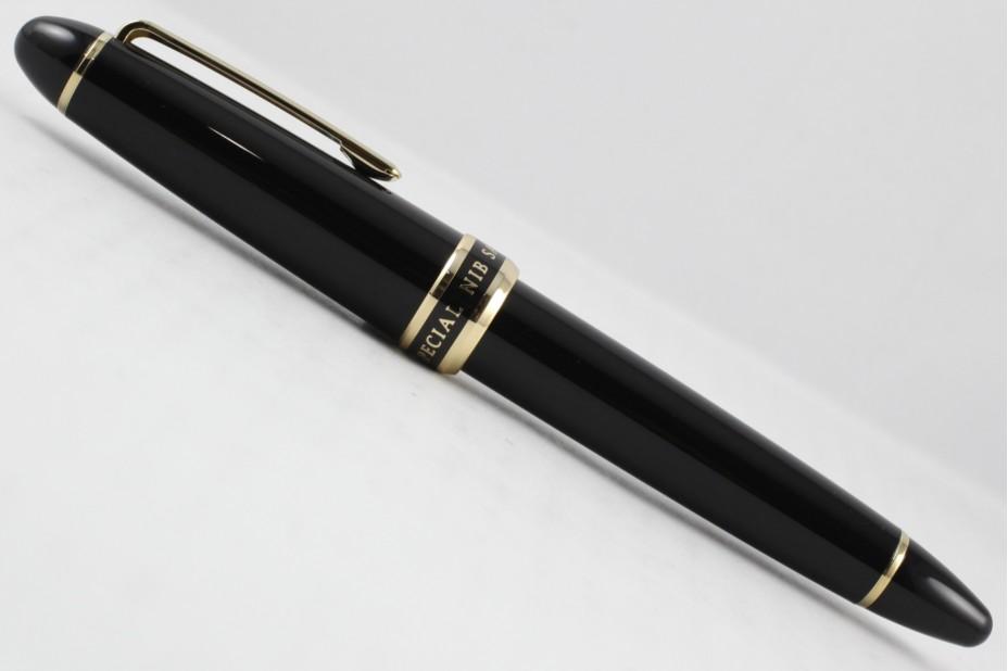 Sailor 1911 Naginata Fude De Mannen Blk Gold Trim Fountain Pen