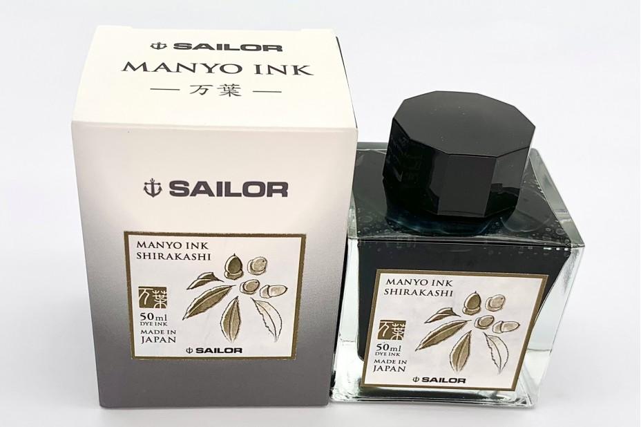 Sailor Manyo Ink Bottle 50ml - Shirakashi