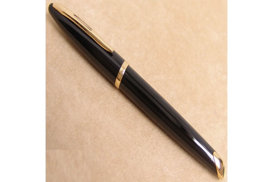Waterman Carene Black with Gold Plated Trim Fountain Pen